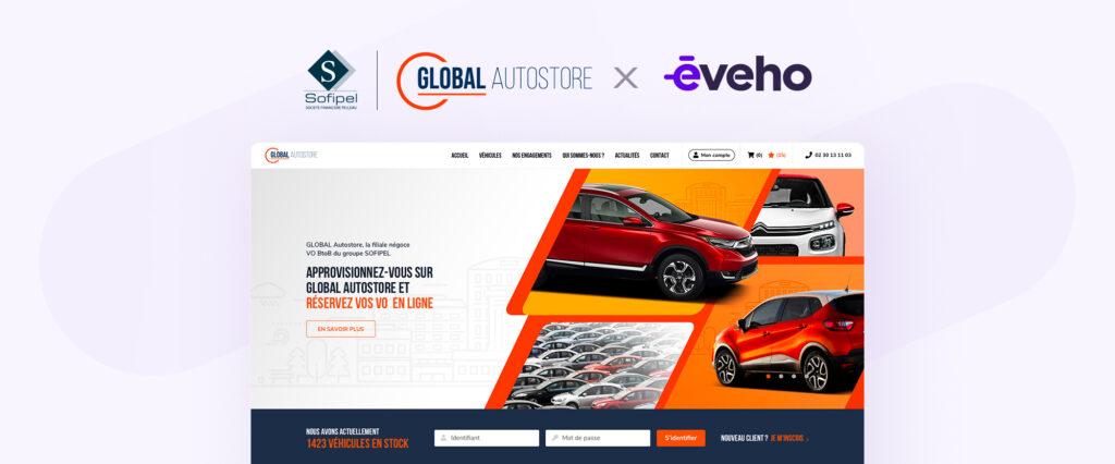 Site de Global AutoStore créé par eveho.